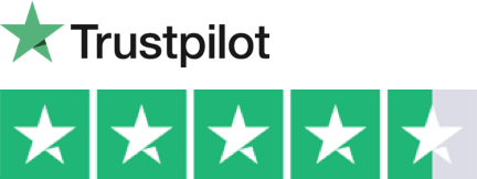 4.7 rating on trustpilot