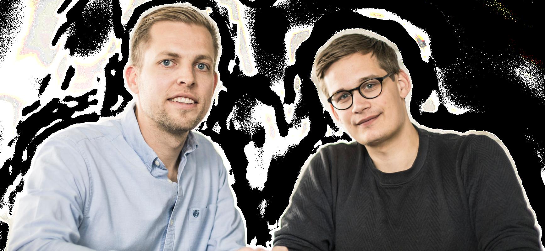 Grundarna av EasyPractice Bo Møller och Emil Højbjerg