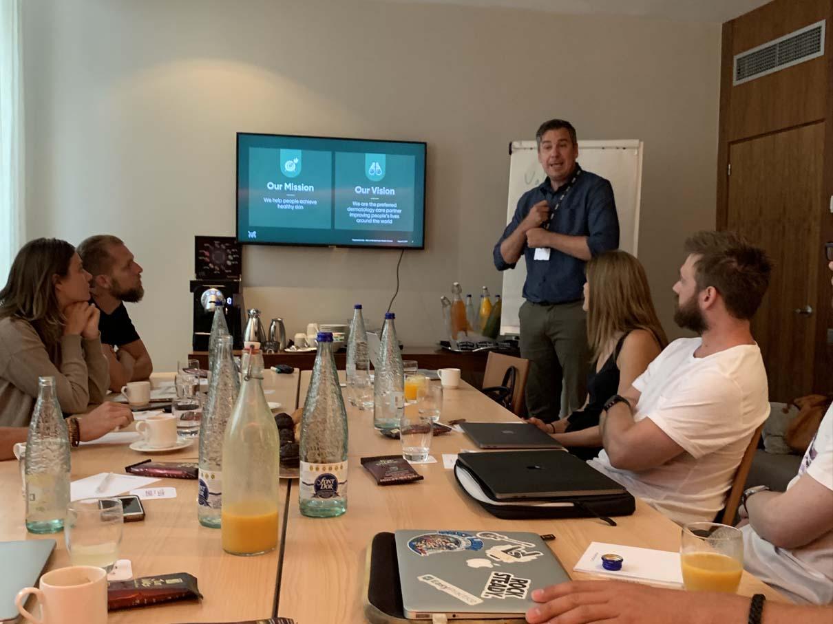 EasyPractice team members in a meeting