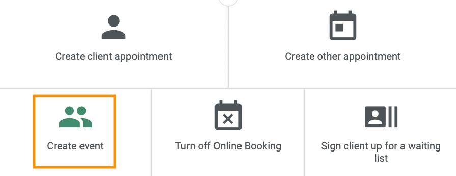 Create event option